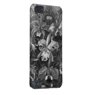 Black&White Vintage Floral Painting iPod Touch (5th Generation) Covers