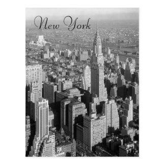 Black & White Vintage New York City Postcard