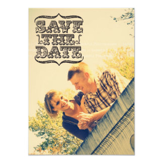 Black & White Vintage Photo Save the Date Cards