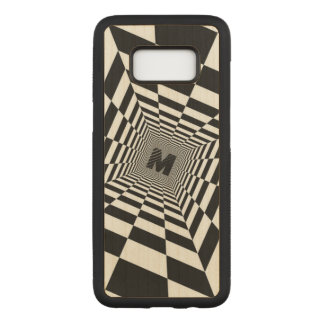 Black & White Visual Illusion, Monogram or Initial Carved Samsung Galaxy S8 Case