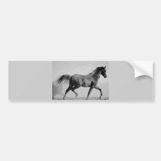 Black & White Walking Horse Bumper Sticker