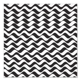 Black & White Waves Photo Art