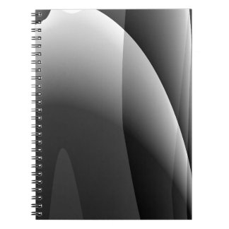 Black&White Wavy Abstract Notebook