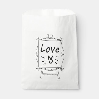 Black & White Wedding, Bridal Shower Love Favour Bags