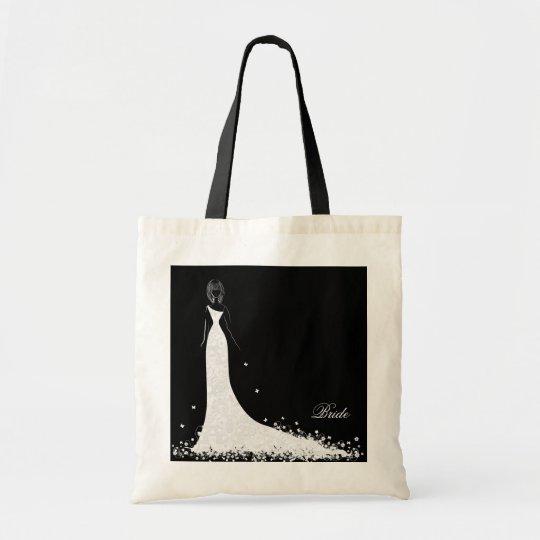 Black & White Wedding Dress & Vintage Lace