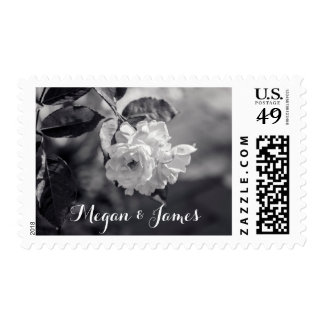 Black & White Wedding Flower | Postage Stamp