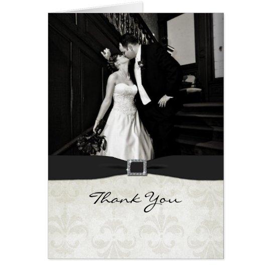 Black & White Wedding Photo Thank You Card