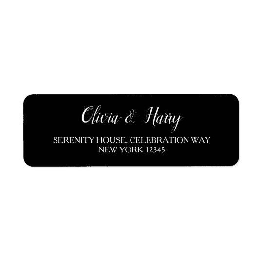 Black & White | Wedding Return Address Labels