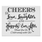 Black & white wedding sign Happily Everafter print
