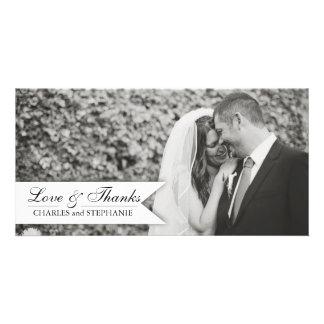 Black & White Wedding Thank You Photo Card
