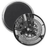 Black & White Wheel Fridge Magnet
