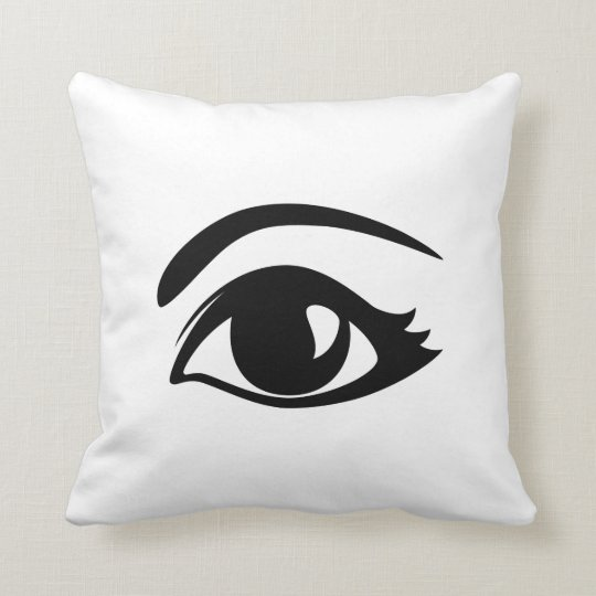 Black & White Winking Eye (Left) Cushion