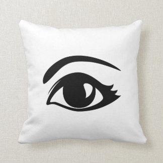 Black & White Winking Eye (Left) Throw Pillow