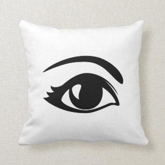 Black & White Winking Eye (Right) Throw Pillow
