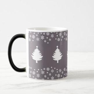 Black & White Winter Snowflakes Elegant Chic Magic Mug