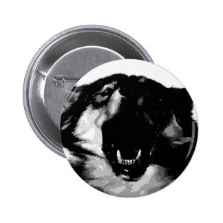 Black & White Wolf 6 Cm Round Badge