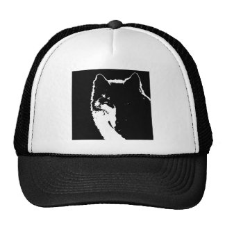 Black & White Wolf Cap