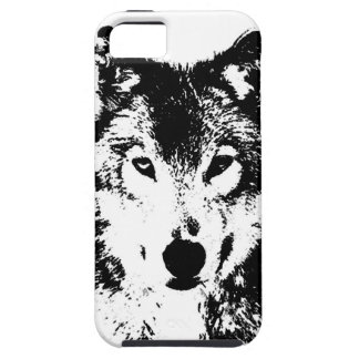 Black & White Wolf Case For The iPhone 5