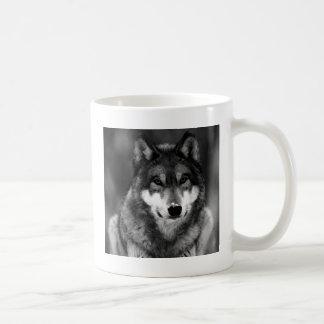 Black & White Wolf Coffee Mug