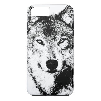 Black & White Wolf Creative Stylish Artwork iPhone 7 Plus Case
