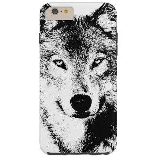 Black & White Wolf Creative Stylish Artwork Tough iPhone 6 Plus Case