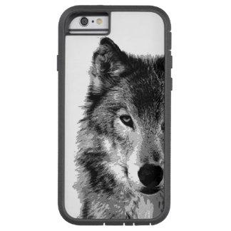 Black White Wolf Eye Tough Xtreme iPhone 6 Case