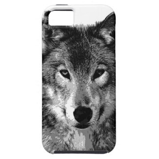 Black & White Wolf Eyes Case For The iPhone 5