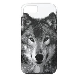Black & White Wolf Eyes iPhone 7 Case