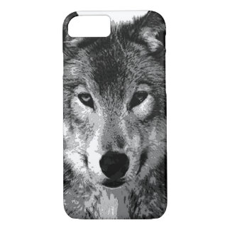 Black & White Wolf Eyes iPhone 7 Case