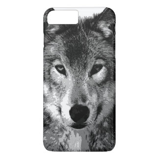 Black & White Wolf Eyes iPhone 7 Plus Case