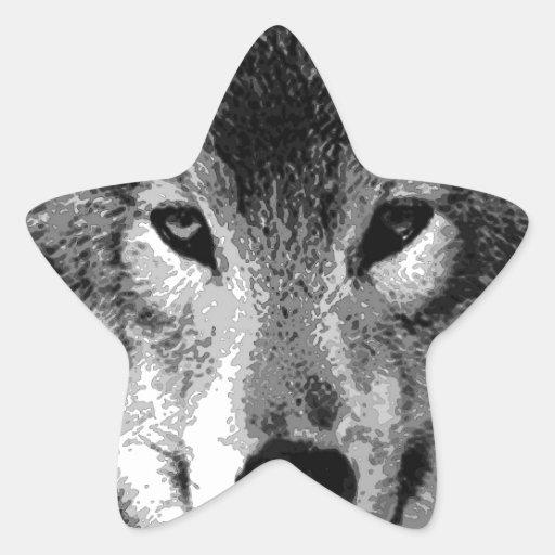 Black & White Wolf Eyes Sticker