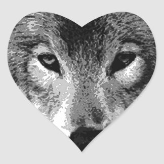 Black & White Wolf Eyes Stickers