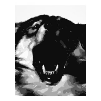 Black White Wolf Personalized Flyer