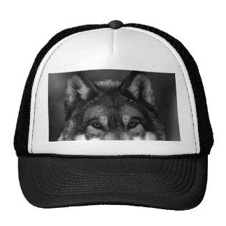 Black & White Wolf Mesh Hat
