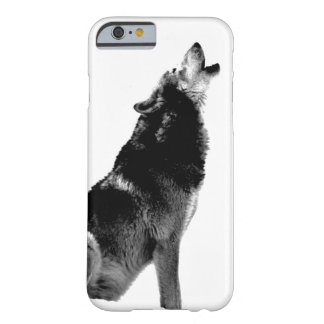 Black & White Wolf Howling at Moon Barely There iPhone 6 Case