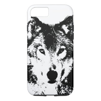 Black & White Wolf iPhone 7 Case