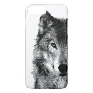 Black & White Wolf iPhone 7 Plus Case