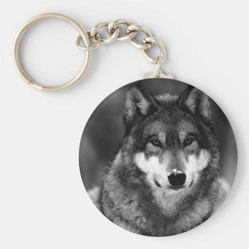 Black & White Wolf Keychains