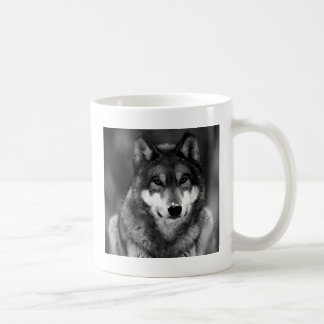 Black & White Wolf Mug