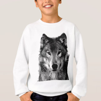Black & White Wolf Portrait Sweatshirt