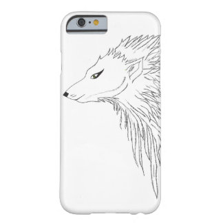 Black & White Wolf Sketch Barely There iPhone 6 Case