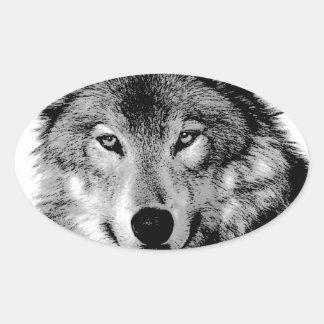 Black White Wolf Sticker