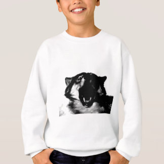 Black & White Wolf Sweatshirt