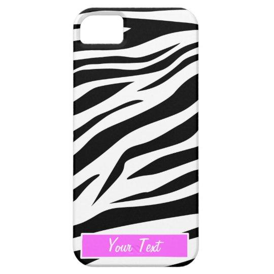 Black/White Zebra Print - Personalise iPhone 5 Case