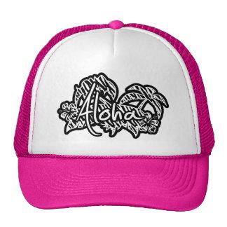 Black & White Zebra Stripes; Aloha Trucker Hat