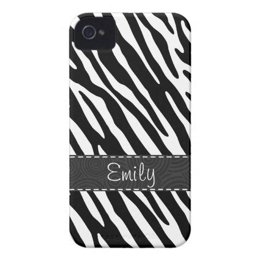 Black & White Zebra Stripes iPhone 4 Case-Mate Cases