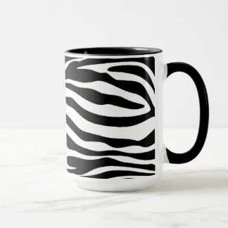 Black & White Zebra Stripes; Chalkboard Mug