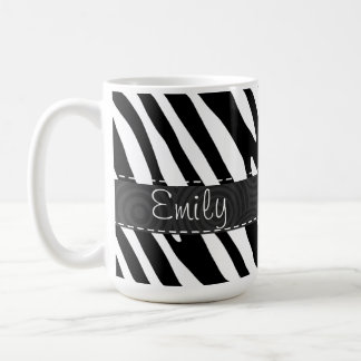 Black & White Zebra Stripes Coffee Mug