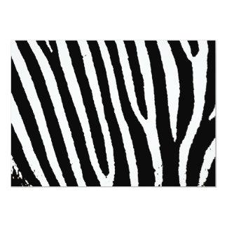 Black & White Zebra Stripes Custom Announcements