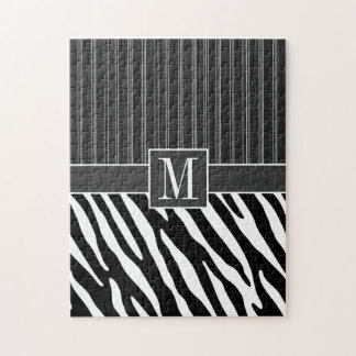 Black & White Zebra Stripes Jigsaw Puzzle